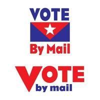 vermelho, branco e azul voto por emblemas do correio vetor