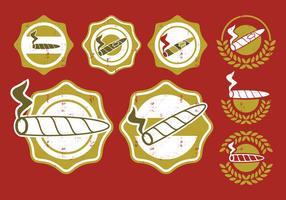 Emblema de etiqueta de charuto vetor