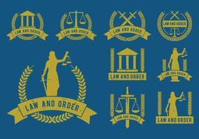 Conjunto de vetores de ícones de lei e ordem