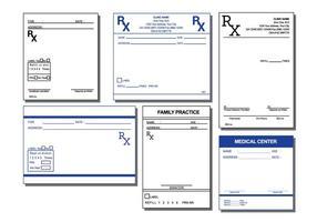 Vector de almofada de prescrição