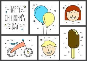 Vetores gratuitos do dia da infância