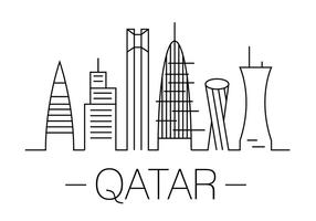 Ilustração vetorial de Qatar vetor