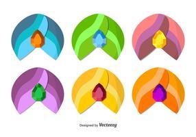 Conjunto de ícones Turban vetor