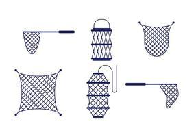 Vector de rede de pesca