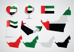 Vetores do mapa dos EAU