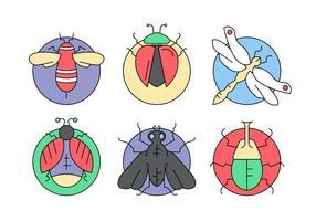Insetos e insetos de vetores gratuitos