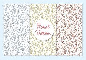 Ilustração do esboço de padrões florais