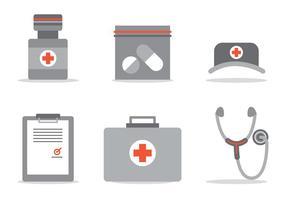 Conjunto de vetores de cuidados médicos
