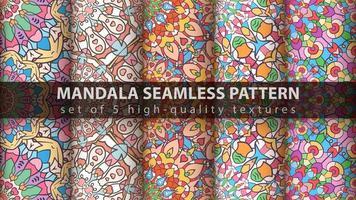 padrões de mandala islâmica árabe de luxo vetor