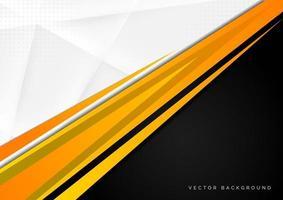 fundo de contraste amarelo, preto, cinza, branco vetor