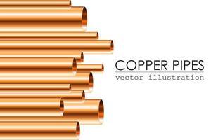 tubos de cobre de tamanhos diferentes vetor
