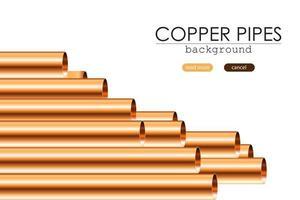 coleção de tubos de cobre isolados vetor