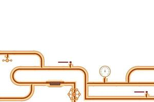 sistema de conexão de tubos de cobre vetor