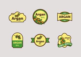 Pacote de vetores de etiquetas argan