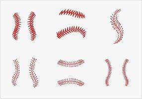 Pacote de vetores de laço de basebol