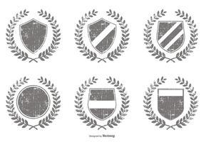 Formas de crista de vetor afligidas
