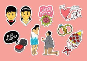 Casar-me vetores de ícones