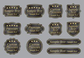 Etiquetas premium personalizadas vetor