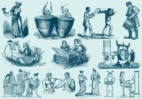 Ilustrações dos músicos vetor