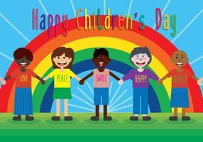Fundo feliz do vetor do dia das crianças