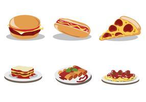 Conjunto de vetores de comida deliciosa