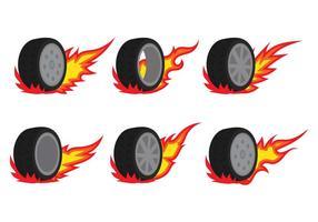 Vetores de pneus de burnout