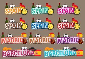 Títulos de Espanha vetorial vetor
