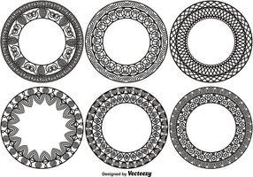 Conjunto de 6 monogramas ornamentais vetor