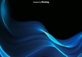 Vetor onda azul abstrato