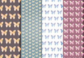 Padrões de borboletas vetoriais vetor