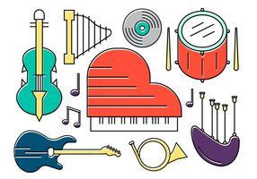 Instrumentos vetoriais gratuitos vetor