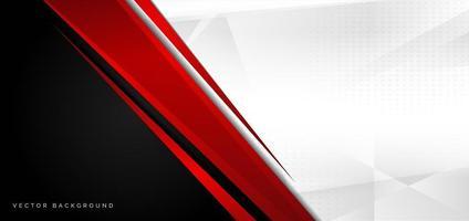 fundo abstrato vermelho, preto e branco vetor
