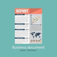 documento de relatório de negócios vetor