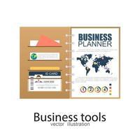 documento de planejador de negócios vetor