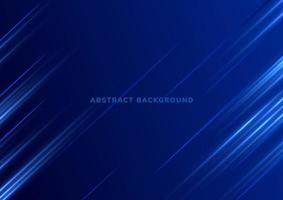 fundo de tecnologia com luzes azuis diagonais vetor