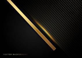 linhas diagonais douradas com fundo de estilo luxuoso de efeito de luz vetor