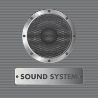 alto-falante de áudio isolado vetor