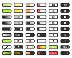 nível de carga da bateria definido vetor