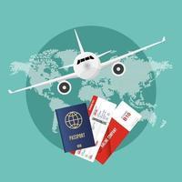 conceito de viagem de avião vetor