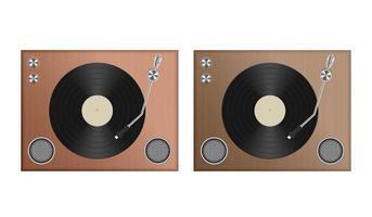 toca-discos analógico isolado
