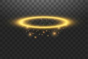 anel de ouro halo anjo vetor