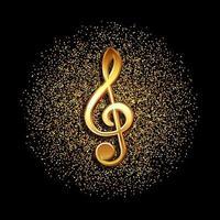 símbolo da música clave vetor