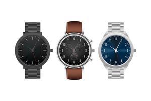 relógio de mão elegante elegante realista vetor