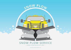 Ilustração do carro de arado de neve vetor