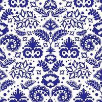ornamento azul padrão sem emenda