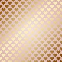 fundo de corações dourados vetor