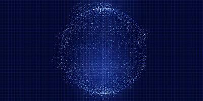esfera de techno dots vetor