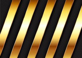 fundo abstrato com barras metálicas de ouro vetor