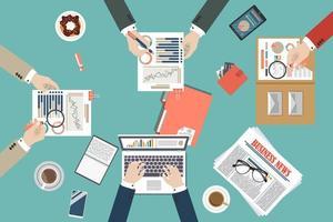 auditoria de processo de dados fiscais vetor