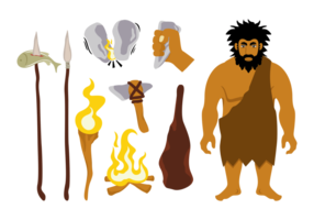 Ícones do vetor da Idade do Gelo